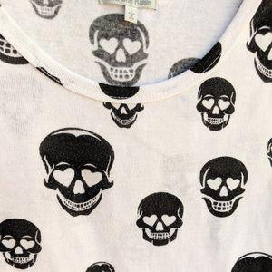 Charlotte Russe Tops - Charlotte Russe Skull Halloween Tie Front Top
